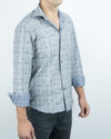 Grey/Houndstooth Reversible Long Sleeve Shirt Side