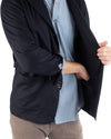 Navy Cashmere Blazer Inside Pocket