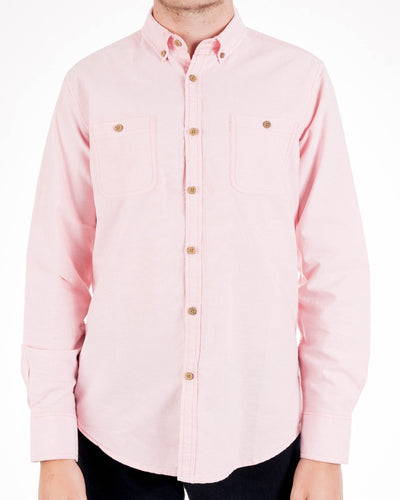 Muted Peach Oxford Button Down Shirt by Alexander Julian