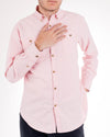Muted Peach Organic Cotton Long Sleeve Oxford Shirt