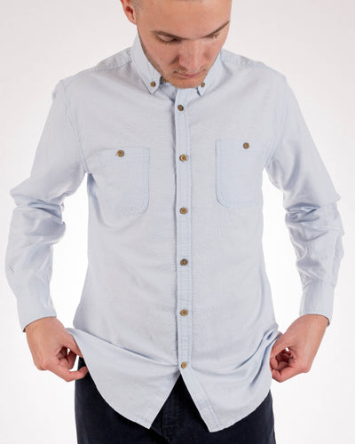 Organic Cotton Blue Long Sleeve Shirt
