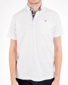 Short Sleeve Grindle White Jersey Polo Shirt