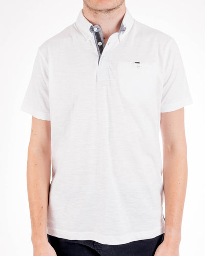 Short Sleeve Grindle Jersey Polo White