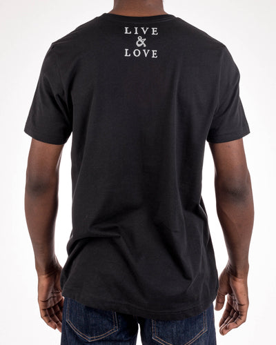 Washed Black COLOURS T Shirt