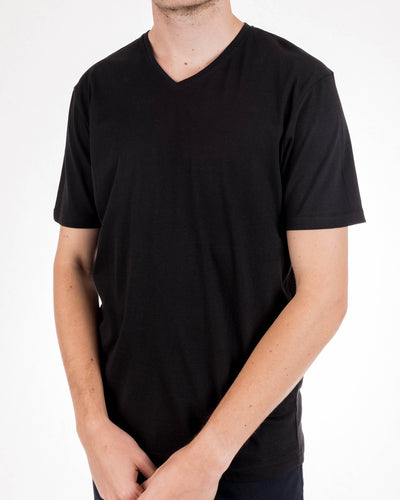 Short Sleeve Organic Cotton Tee Black