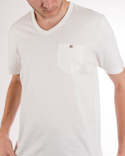 Short Sleeve Organic Cotton Pocket Tee Natural