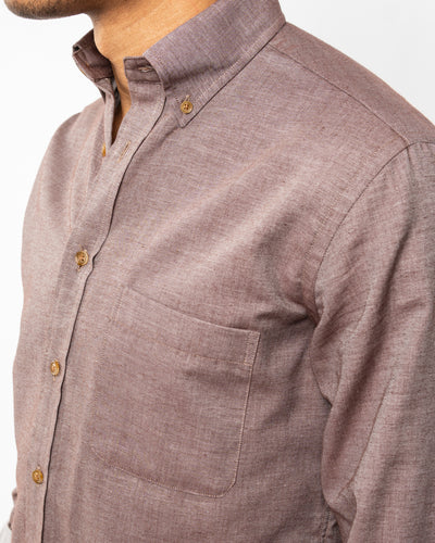 Burgundy Heather Organic Cotton Shirt