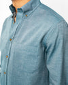 Turquoise Heather Organic Cotton Shirt