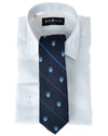 Navy Club Repp Stripe Tie