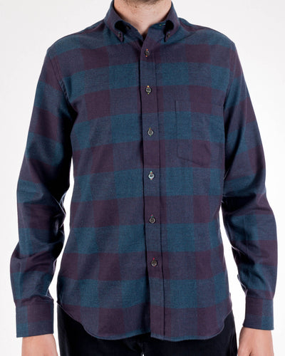 Buffalo Cotton Plad Long Sleeve Shirt