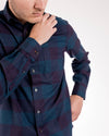 Buffalo Flannel Cotton Long Sleeve Shirt