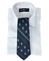 Navy Double Club Repp Stripe Tie