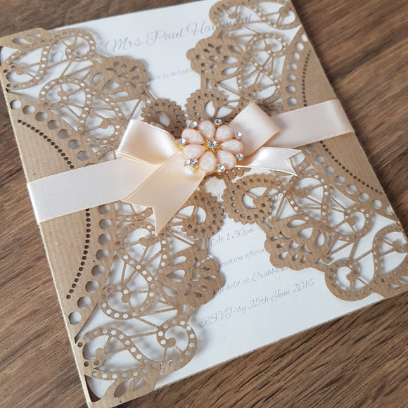 Bespoke Lace Invitations