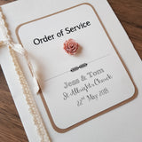 Order Of Service - Rustic Luxury