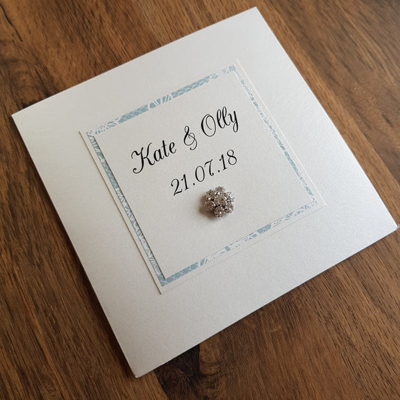 handmade wedding invitation