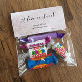 Favours - chocolate/sweets bags
