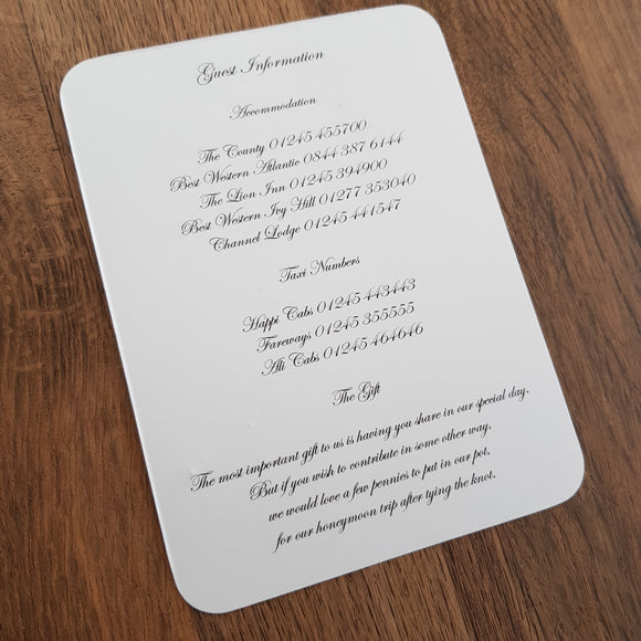 z-Inserts for your invitations-z