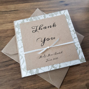 Thank you card - Rustic