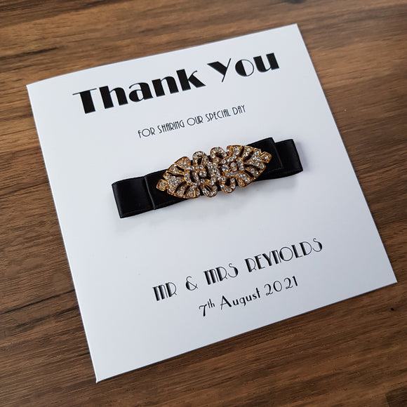 Thank you card - Art Deco