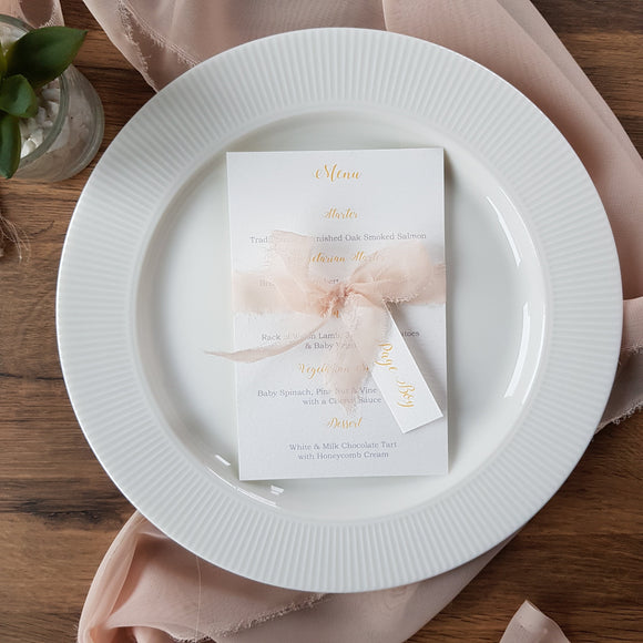 Menu Card & Place setting - Calligraphy