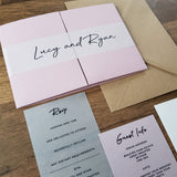 pocketfold wedding invitation