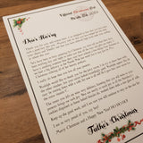 personalised father christmas letter