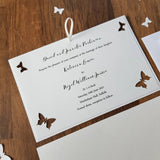 Butterfly wedding invitation handmade