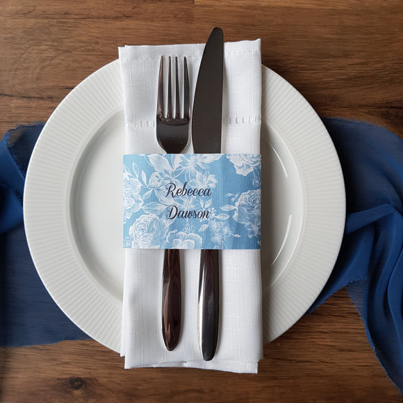Place setting/ Menu Belly Band