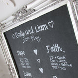 Table planner - Chalkboard