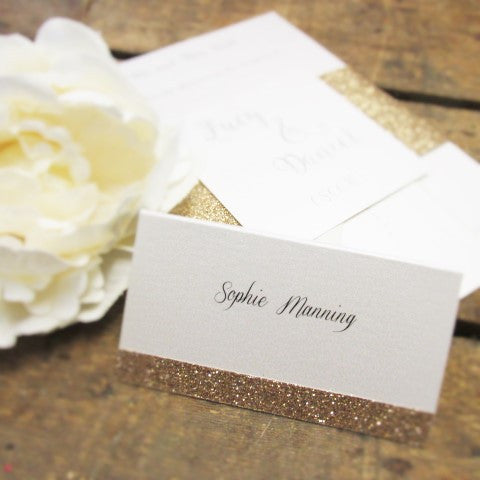 Place Card Glitter