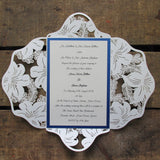 Lace laser cut invitation floral li