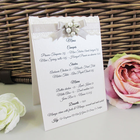 Menu  - freestanding Luxury