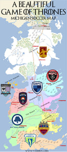 A Beautiful Game of Thrones: Michigan Soccer Map