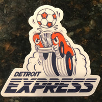 Detroit Express Die-Cut Sticker