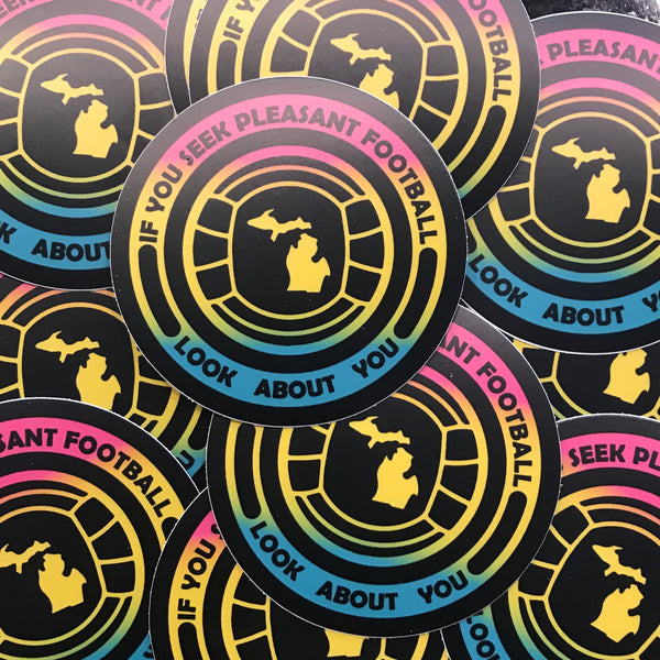 "Look About You Sticker (3"" Round)"