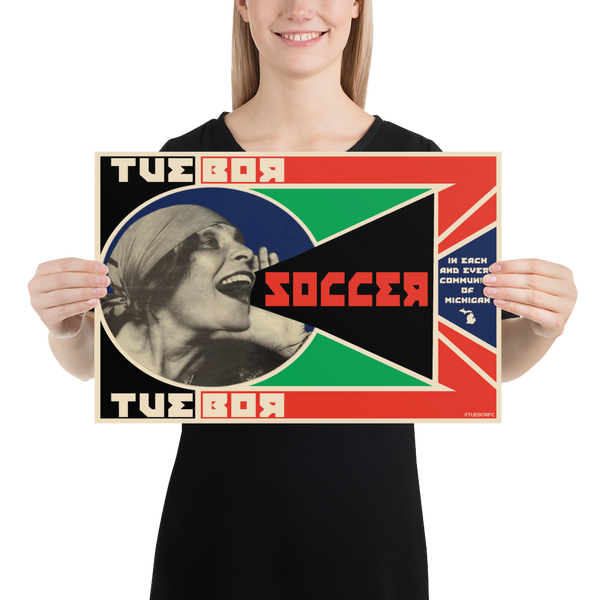 """Soccer! In Each and Every Community of Michigan"" Print (12"" by 18"")"