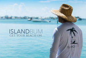 Island Bum.. Our company provides UPF 50, linen, and beach accessories
