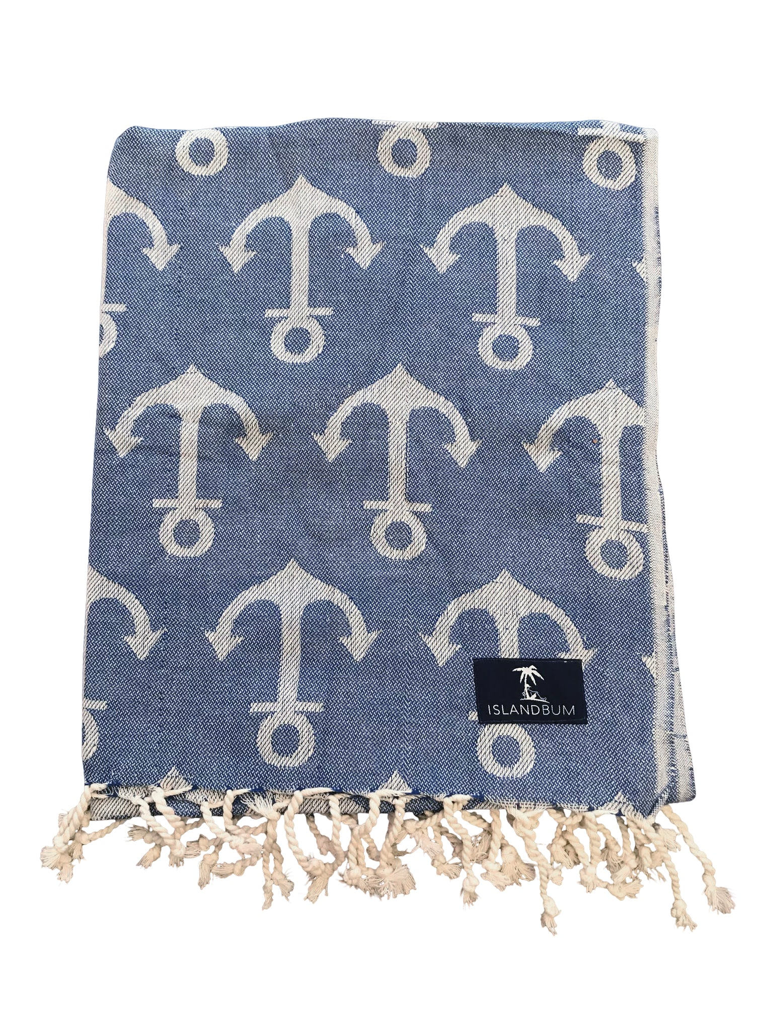 Island Bum Anchors Turkish Towel