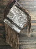 Louis Vuitton and Fringe Speckled Cattle Hide Purse