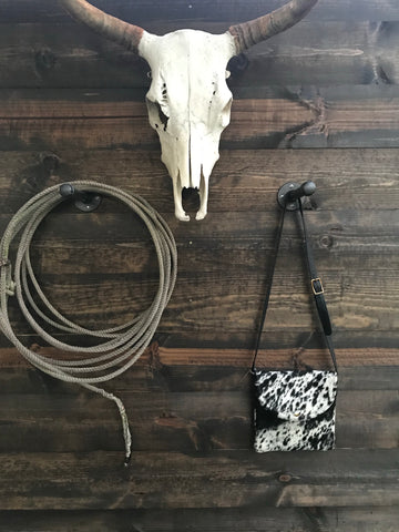 Salty Cattle Hide Crossbody