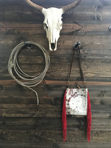 Red Fringe Speckled Cattle Crossbody