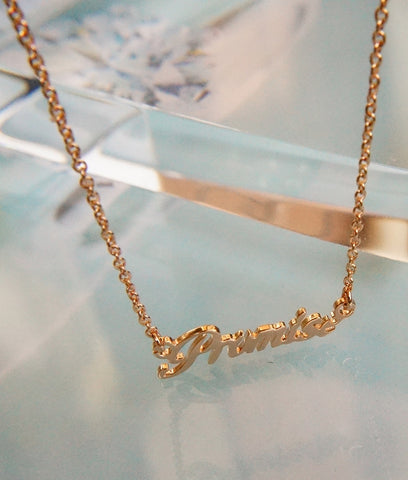 'Promise' Wording Necklace