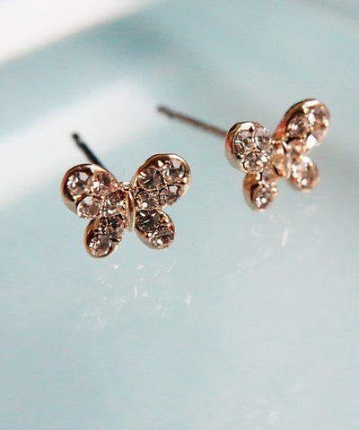 Crystalised Butteryfly Earrings