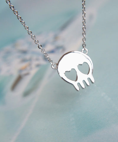 Skull Head Necklace - Silver