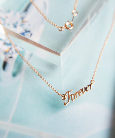 'Forever' Wording Necklace
