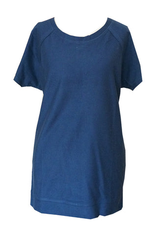 Navy Tee with See Through Back