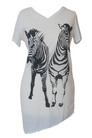 Double Zebra Printed Tee