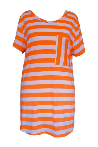 Stripy Tee with Front Pocket