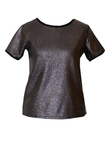 Shiny Texture Fabric Tee