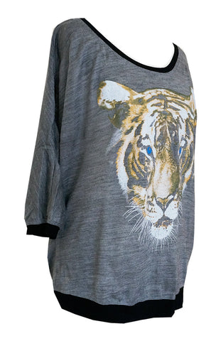 Tiger Face Printed Tee
